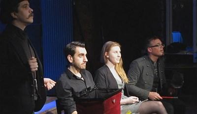 Samuel med Henrik, Caroline och Gaston