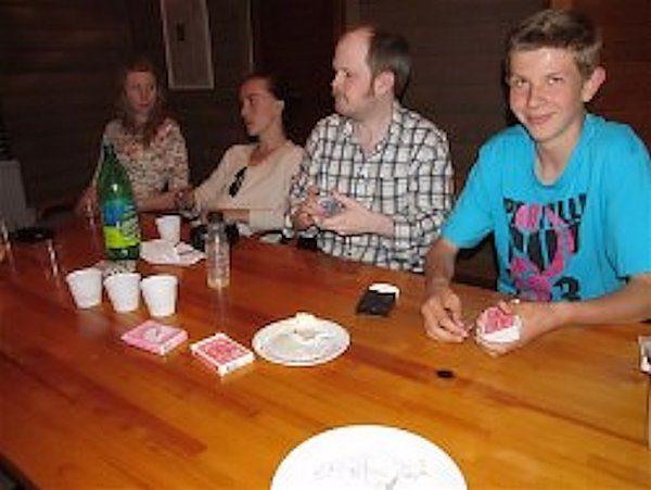 Caroline, Isidor, Matz och Johan