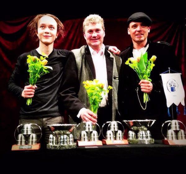 Tre av fyra förstapristagare. Isidor, Christabuu och Gaston
