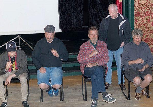 Jonis, Martin, Janne, Torbjörn (varvräknare) och Christer