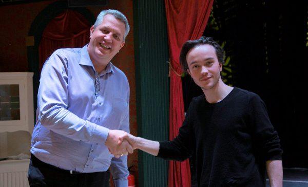 Leif välkomnar Isidor som ny ordförande