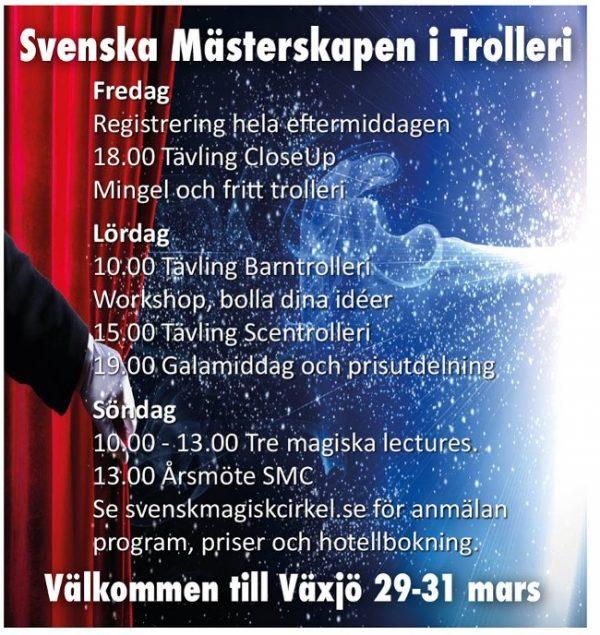 Svenska mästerskapen i trolleri i Växjö 2019
