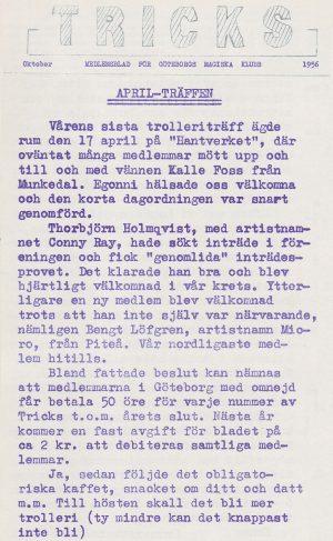 Tricks oktober 1956