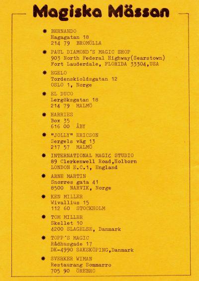 Top Hat 1977 - Magiska Mässan